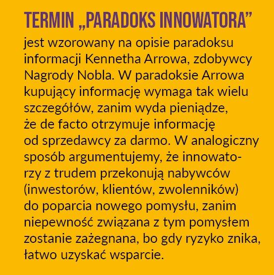 Jak przezwyciężyć paradoks innowatora